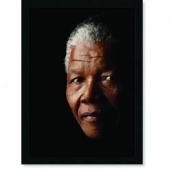 Quadro Poster Personalidades Nelson Mandela 3