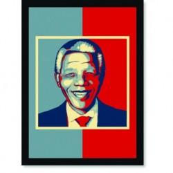 Quadro Poster Personalidades Nelson Mandela 4