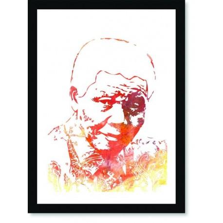 Quadro Poster Personalidades Nelson Mandela 5