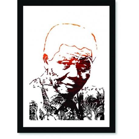 Quadro Poster Personalidades Nelson Mandela 6