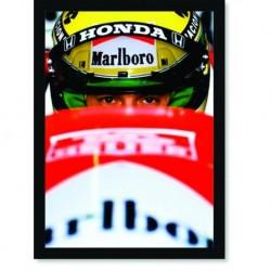 Quadro Poster Personalidades Airton Senna Mclaren