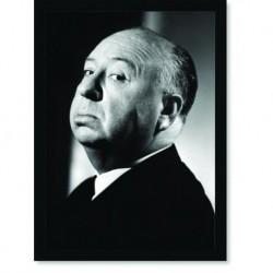 Quadro Poster Personalidades Alfred Hitchcock 1