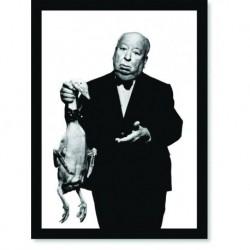Quadro Poster Personalidades Alfred Hitchcock Pato