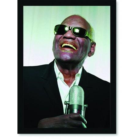 Quadro Poster Personalidades Ray Charles